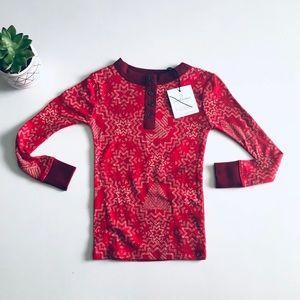 Hearth & Hand Magnolia Christmas Henley Pajama Top